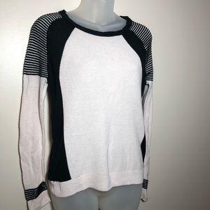 Medium American Eagle Pink Black Sweater Stretchy